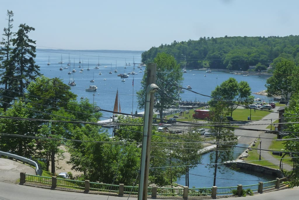 view from the house  of Rockport harbor