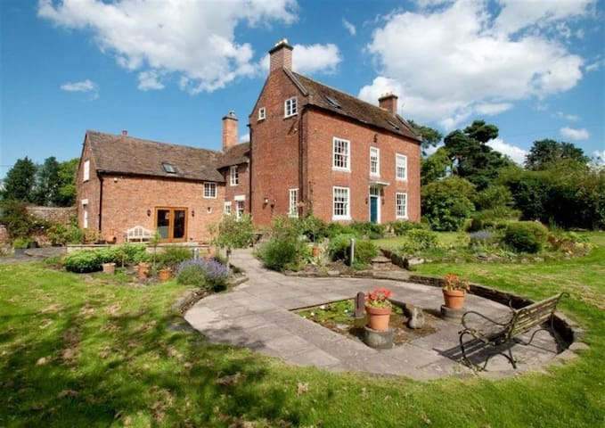 Large country house with beautiful gardens