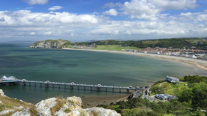 In the heart of Llandudno, Wales