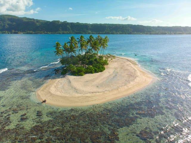 Motu Nono Lodge- maison bord de mer face à un îlot