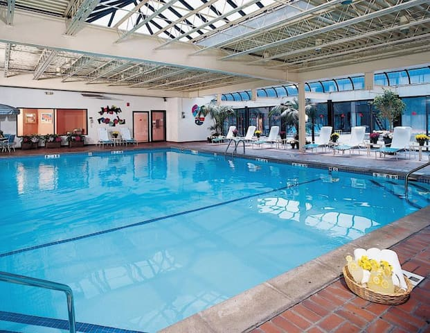 Indoor pool is the perfect place to relax with family and friends.