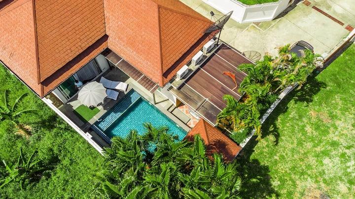 2 bedroom pool villa with mountain view at Kamala