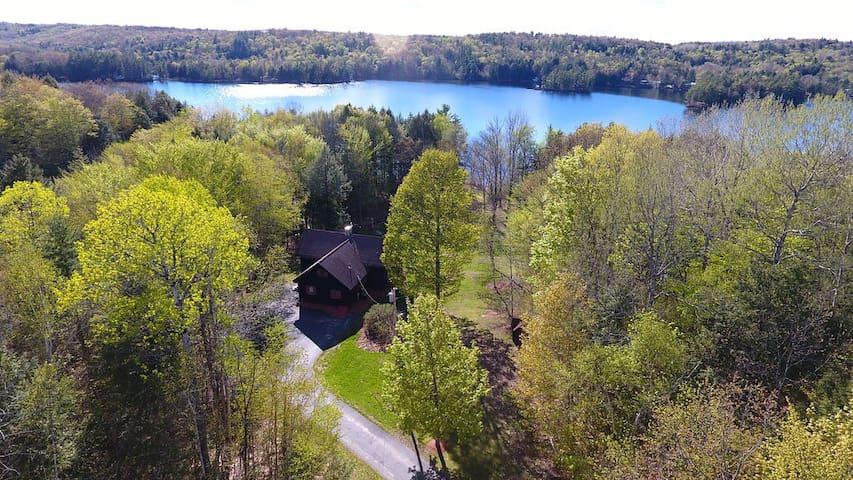 Beautiful 5 Acres Lakefront Estate & Private Beach