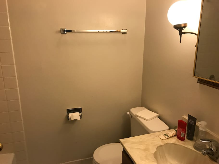 The Bathroom - Guests will have access to the furniture but all the other personal items will be removed