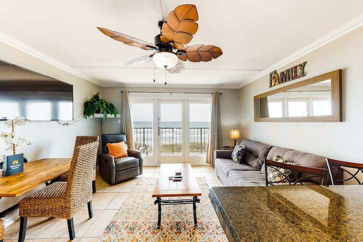Dog-friendly, waterfront condo w/ shared pool, shared hot tub, & beach access