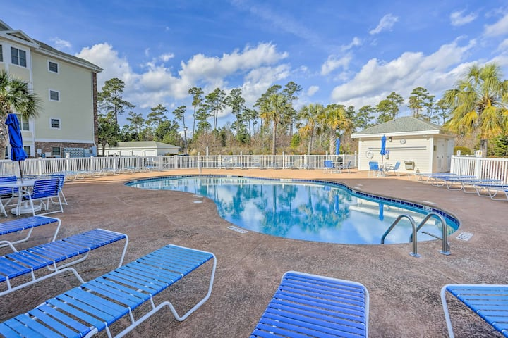 Central Myrtle Beach Condo Next to Myrtlewood Golf