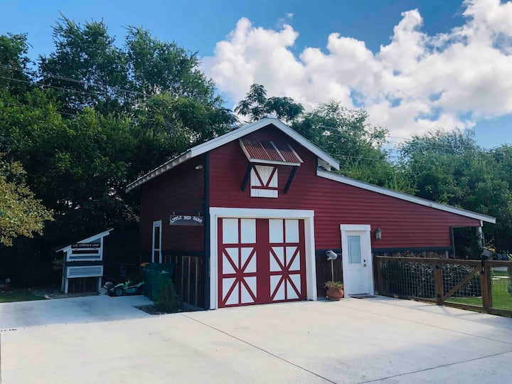 The Little Red Barn in Town