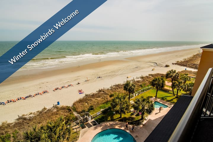 Magnificent Oceanfront Balcony. Indoor Pools. Covered Parking. On-Site Dining.