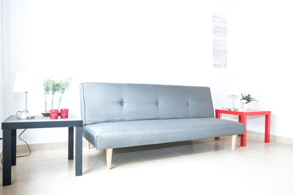 Sofa bed in case you have a guest staying