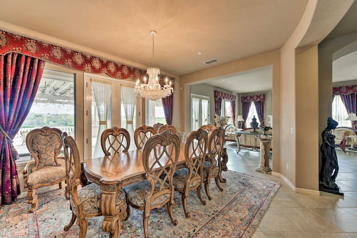 Host five-star dinners in the dining room.