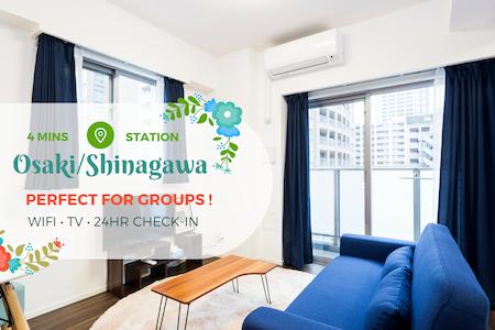Modern Apt. Near Shinagawa 4mins. to Sta. w/ WiFi! - Shinagawa-ku - Lägenhet