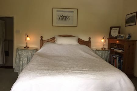The Beaufort Room at Little Fosse Farm - One double bed, fitted wardrobes, chest of drawers, chair and bookcase. Please Note: This is the room for this listing.