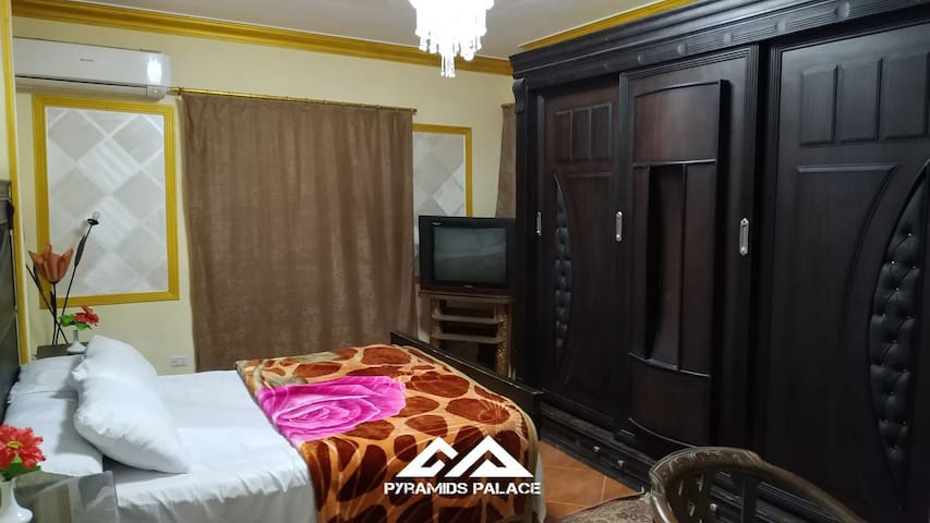 Sleeping room with ac and tv and very good furniture