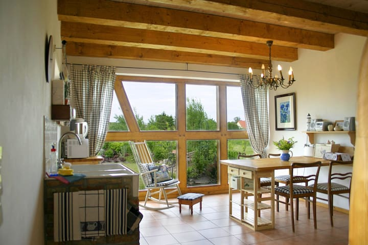 """Landhauswohnung """"Backbord"""" mit eiger Sauna - Thesenvitz - Apartment"""