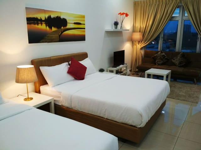 Sleep comfortably with 3 Queen size beds & 1 sofa bed. Full linen provided for 7 persons.