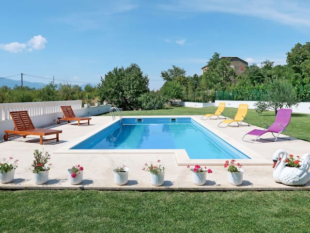 Beautiful holiday house Marko with pool, garden, terrace and bbq, located in the countryside