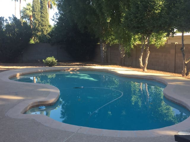 Pool and private back yard