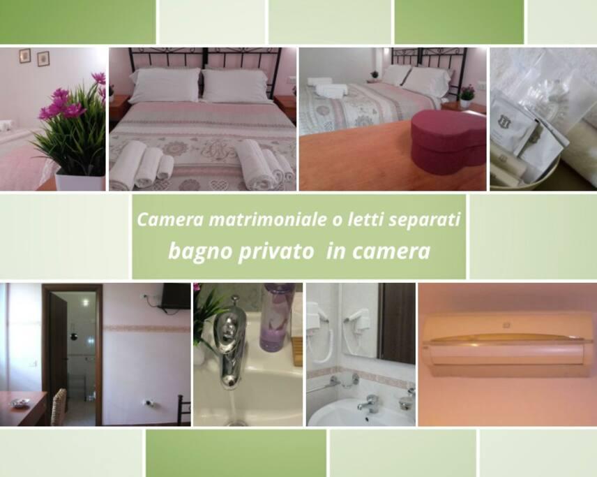 Doppelzimmer oder Doppelzimmer mit eigenem Bad im Zimmer