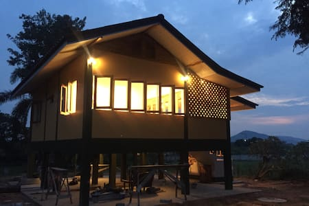 Nature house with wooden balcony - Sattahip