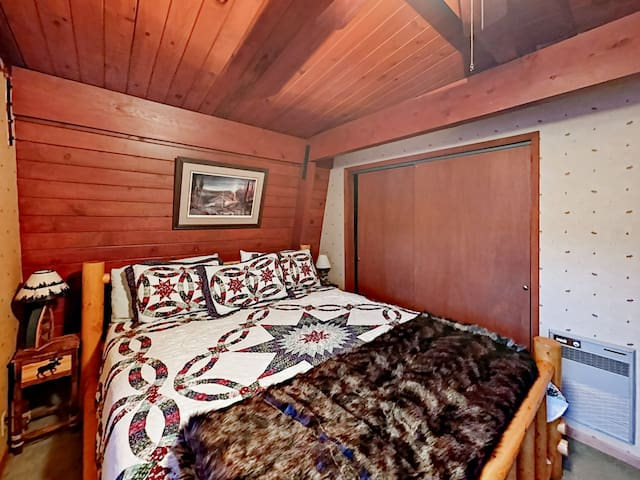 Find quiet privacy in the spacious 2nd bedroom with a stately king bed.