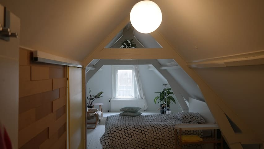 19th century European attic 1 Queen Bed - Dordrecht - Pis