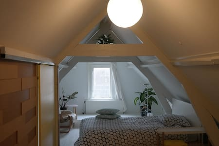 Attic room of 19th century Europe:1 Queen Bed - Dordrecht - 公寓