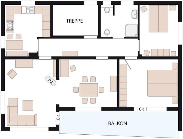 Ferienwohnung/Monteurswohnung - Bad Oeynhausen - Apartamento