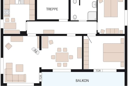 Ferienwohnung/Monteurswohnung - Bad Oeynhausen - 公寓