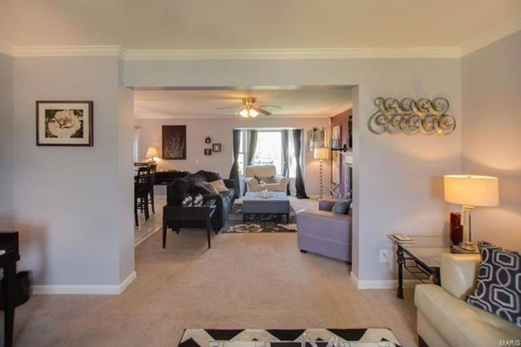 This home has a very open floor plan- this leads into the family room.