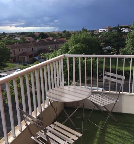 T2 calme avec balcon sans vis à vis