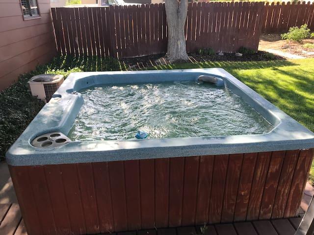 hot tub invites you in