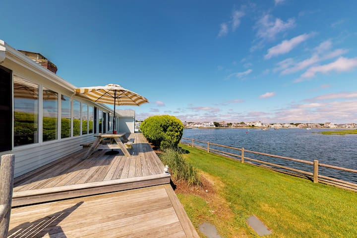 Stunning waterfront home w/ furnished deck, dock & majestic views! Dogs ok!