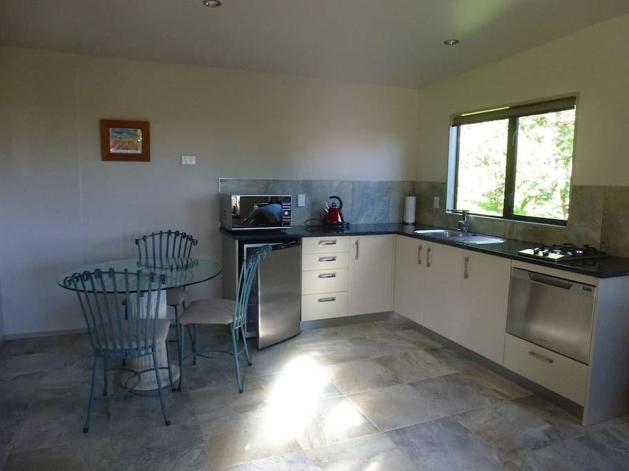 Fully equiped kitchen including dishwasher, oven and gas hobs.  Tea & coffee supplied