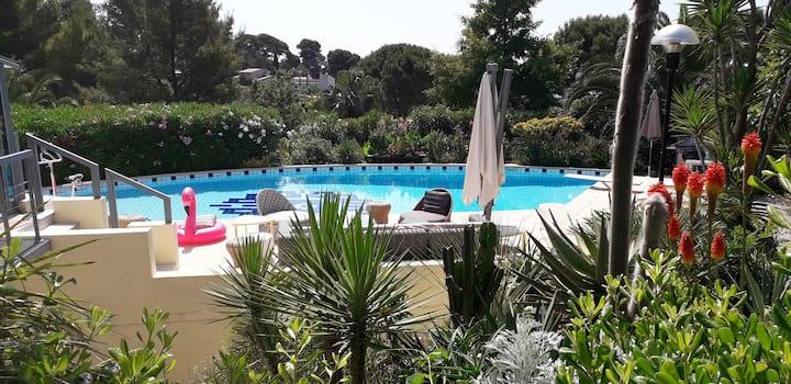 Villa Bianca havre de paix a 5 minutes des plages.