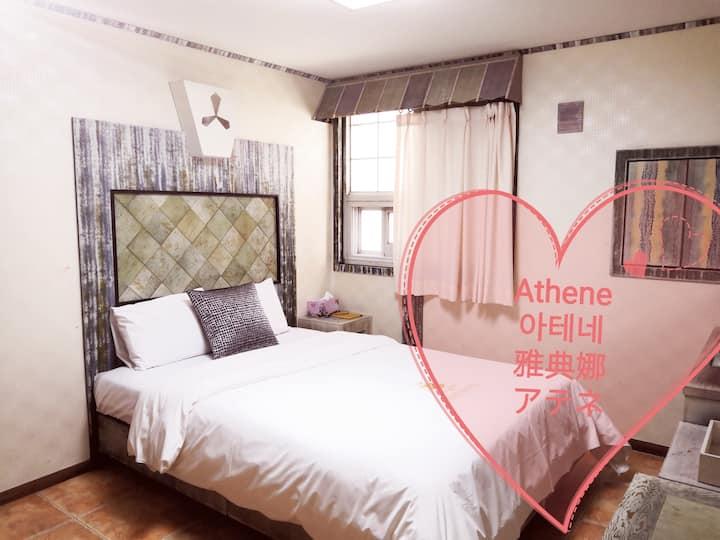 Double Room-Subway Uncheon,Sangmu,아테네모텔Motel