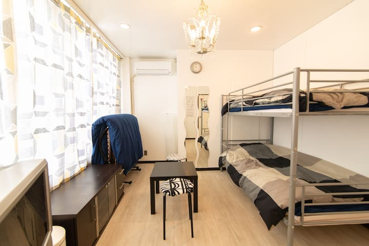 Long stay visit  Maximum 3 people  room  WIFI free