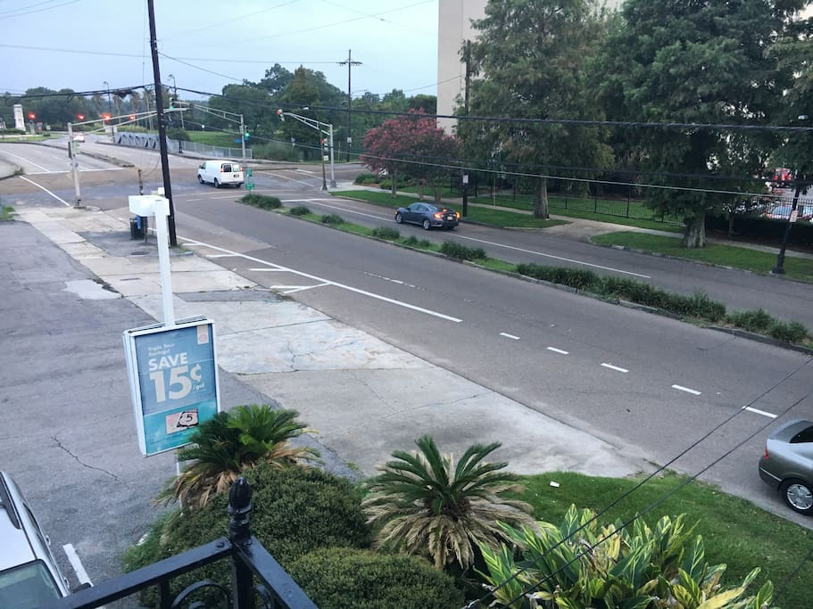View from balcony of Esplanade Avenue and RTA Bus stop