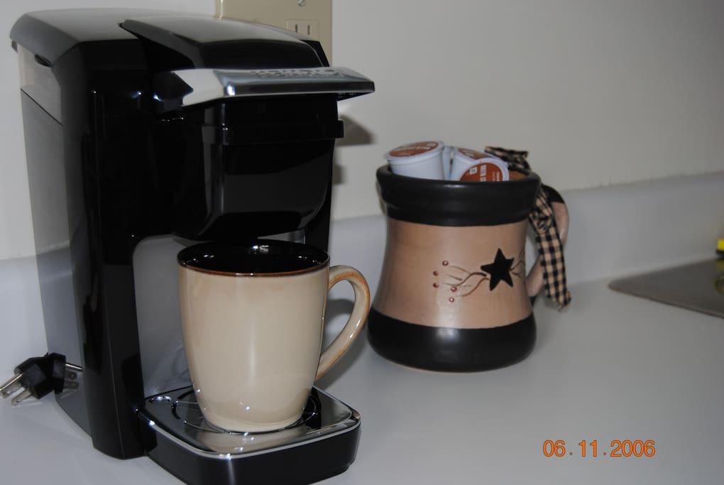 Warm cup of coffee awaits you
