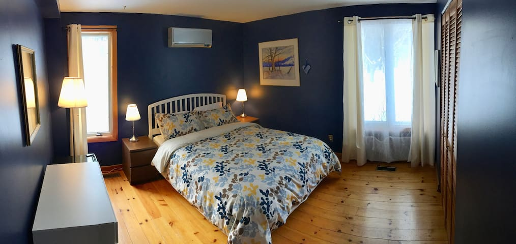 A comfortable room with a real down duvet for your good nights rest. A small bar fridge is also provided for your convenience.