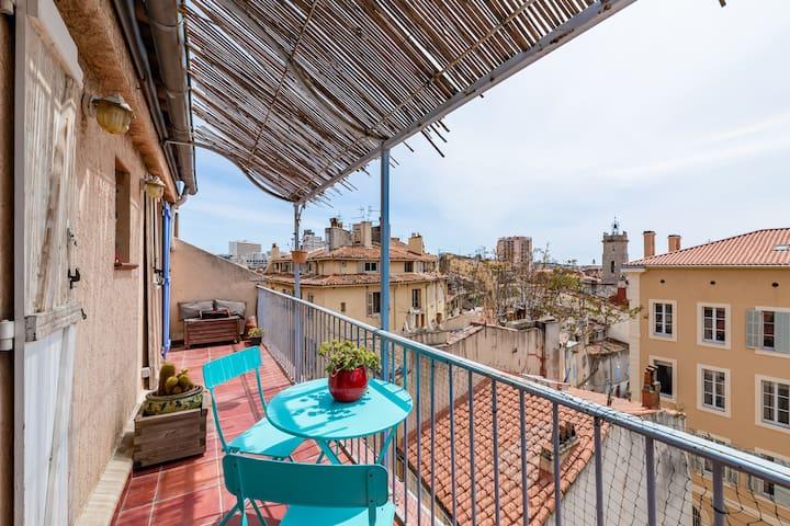 Logement moderne au coeur du vieux Toulon