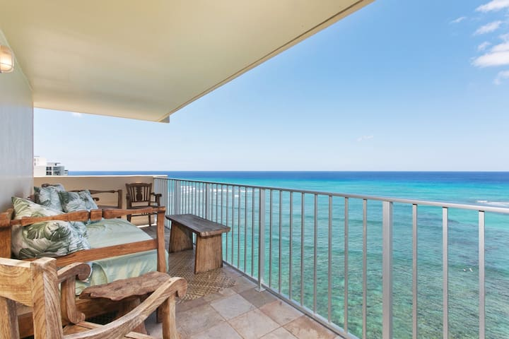 Our private lanai with incredible views