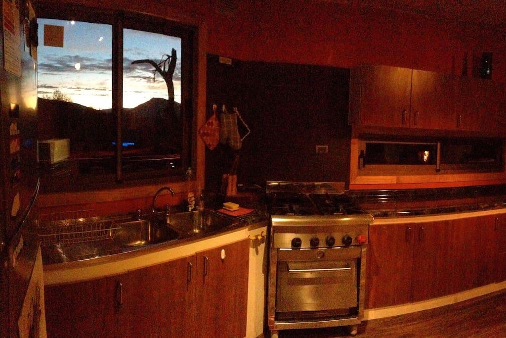 Kitchen whit view.