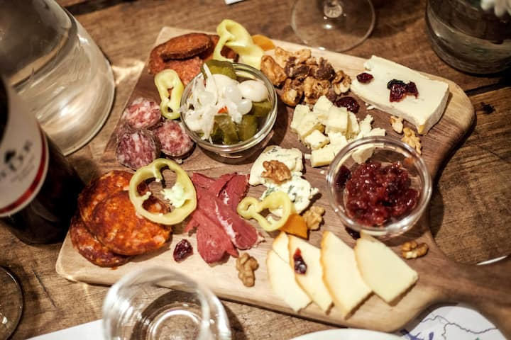 Delicious local cheese and charcuterie