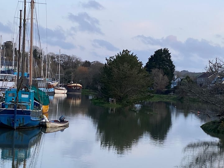 Unique Houseboat in Gweek with Helford River Views