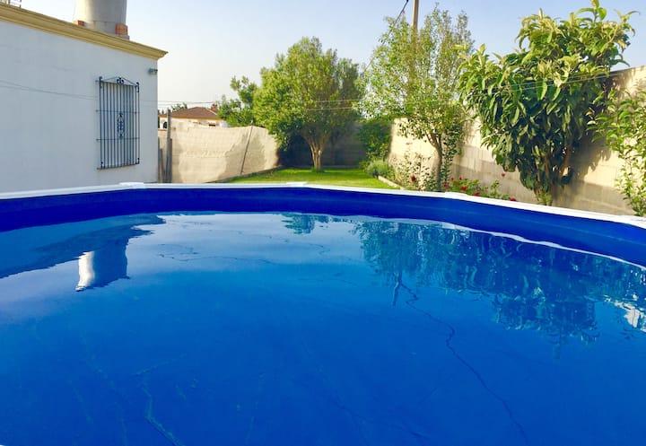 Chalet con aire y piscina privada