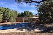 """A Serene Private Back Yard- """"New Pool"""""""
