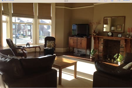 Beautiful Victorian double room with own bathroom - Tynemouth - 独立屋