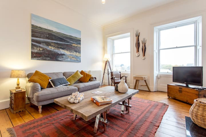 Bright & traditional Edinburgh flat - Edimburg - Pis