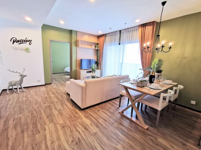 2 Bedroom Cozy Beach Resort  Free wifi near 7-11