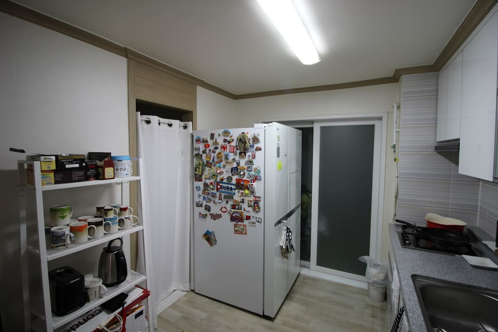 You can use our refrigerator, toaster, coffee pot and gas range.